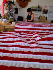 Making Wally Wabash fabric